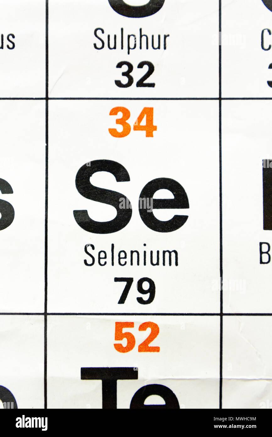 El elemento de selenio se tal como se observa en la tabla el elemento de selenio se tal como se observa en la tabla peridica tal como se utiliza en una escuela del reino unido urtaz Images