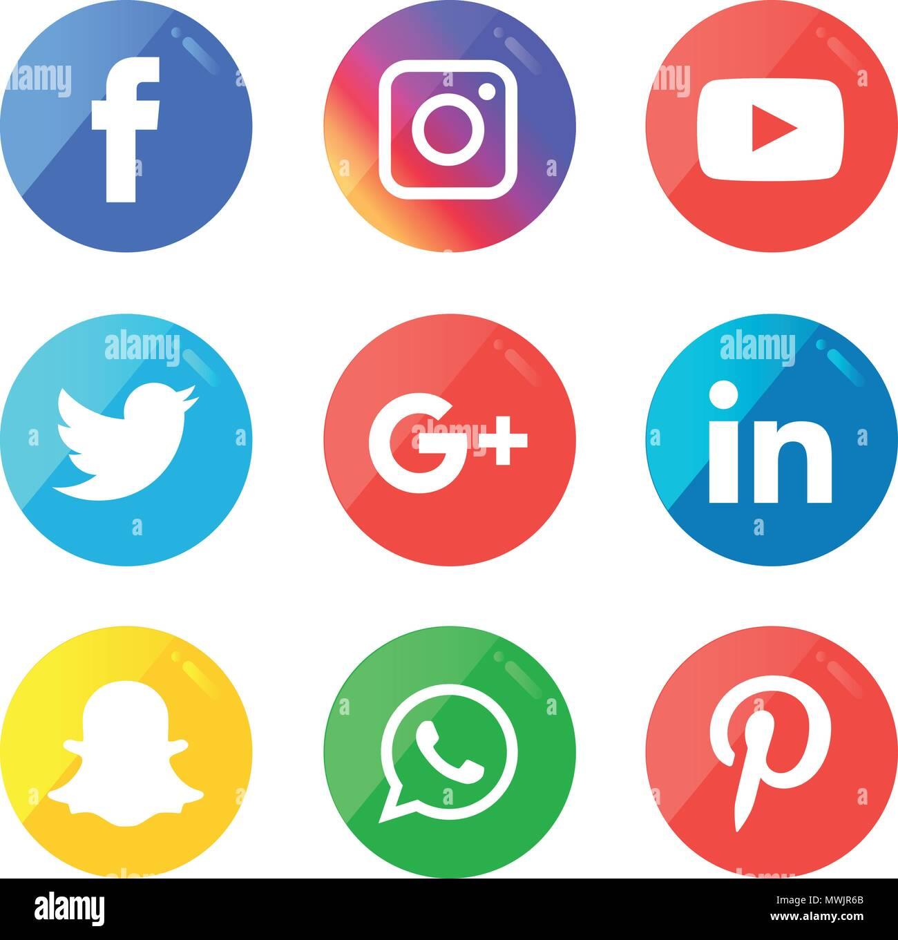 Iconos De Medios Sociales Vector Logo Illustrator Facebook