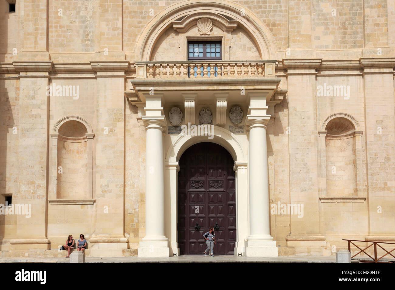 La iglesia concatedral de San Juan, Valletta, Malta Foto de stock