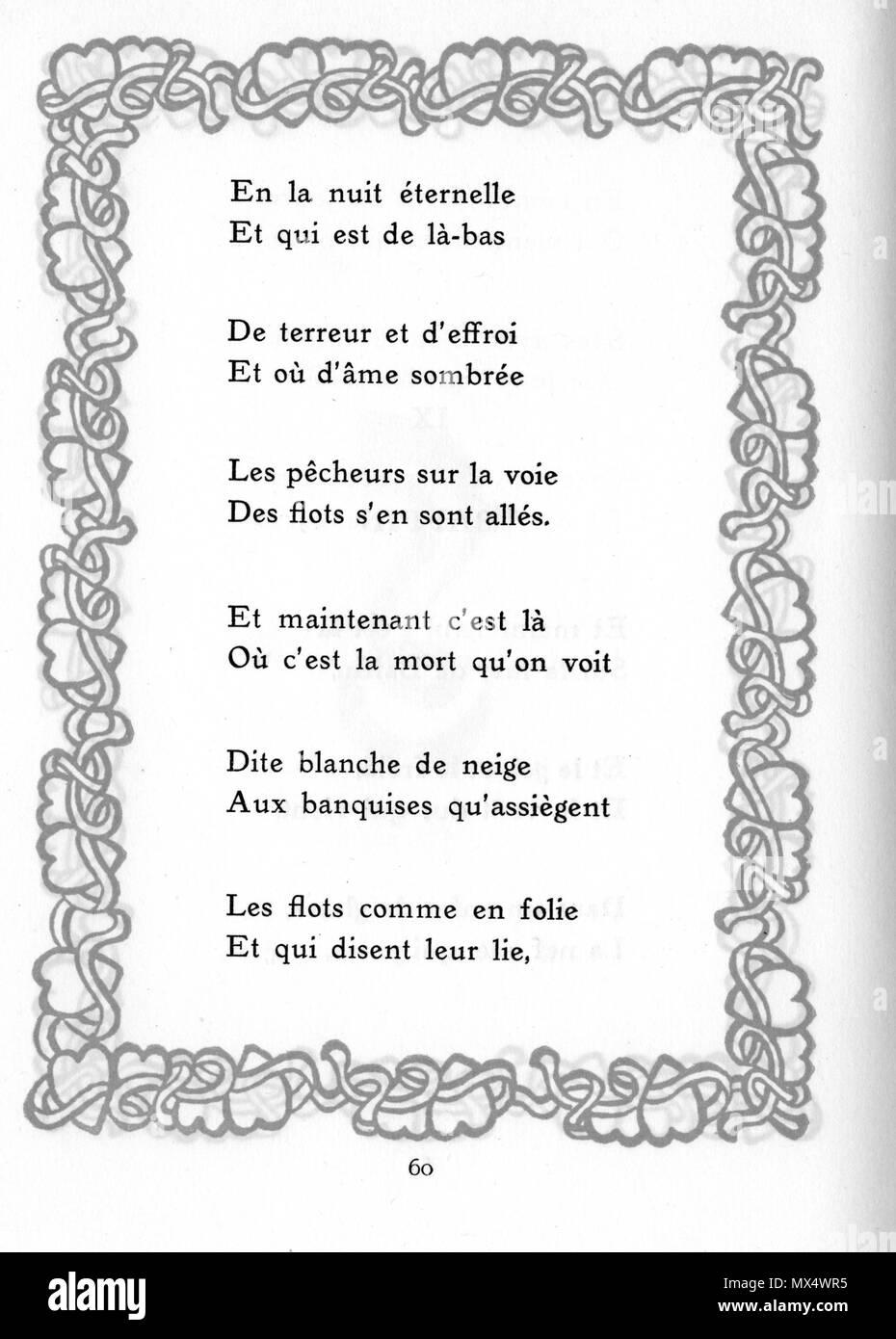 Français Baffin Extrais Poème De Chansons Damures