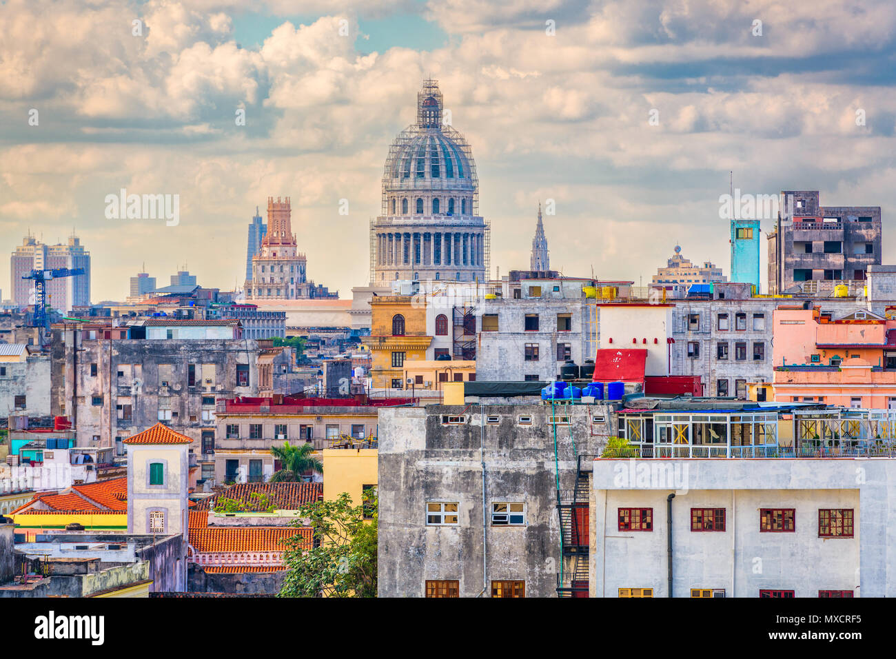 Ciudad Habana, Cuba. Foto de stock