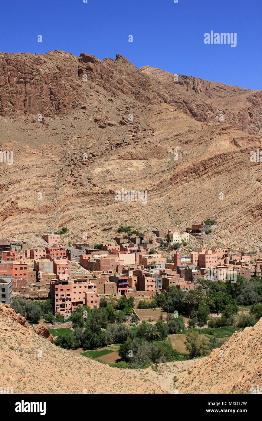 (Tinerhir Tinghir) , Valle de gargantas de Todra, Marruecos Imagen De Stock