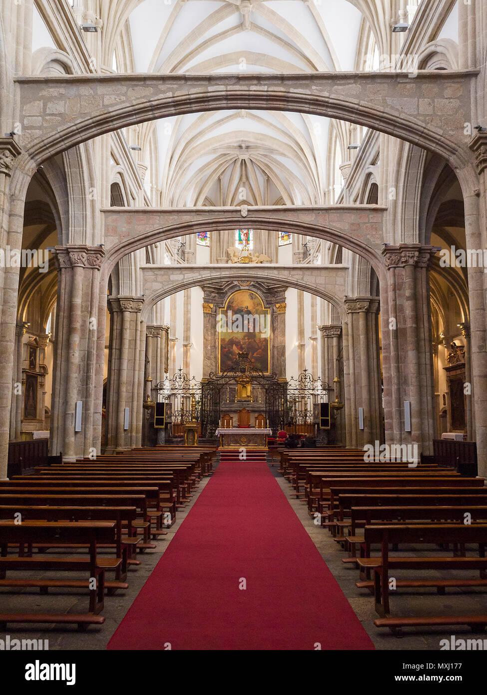 Iglesia de Santa María la Mayor en la Colegial. Talavera de la Reina. Conjunto histórico artístico. Provincia de Toledo. España. Imagen De Stock