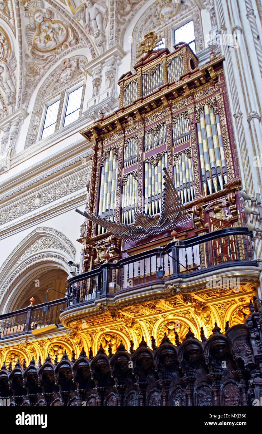 Órgano en la Mezquita de Córdoba. Andalucía. España Imagen De Stock