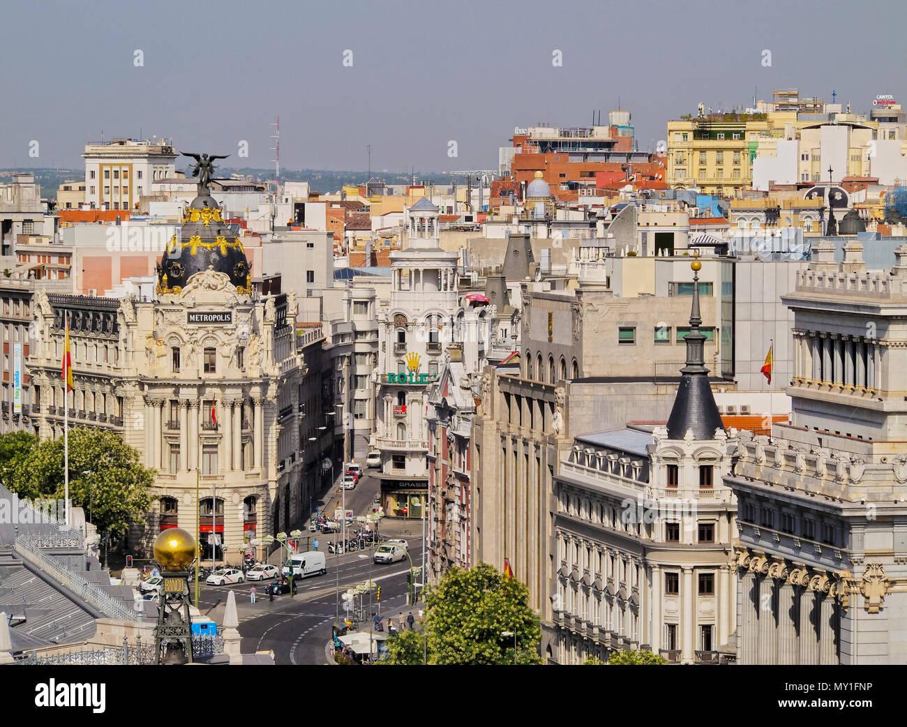 España Madrid Vista Desde El Palacio De Cibeles Hacia La
