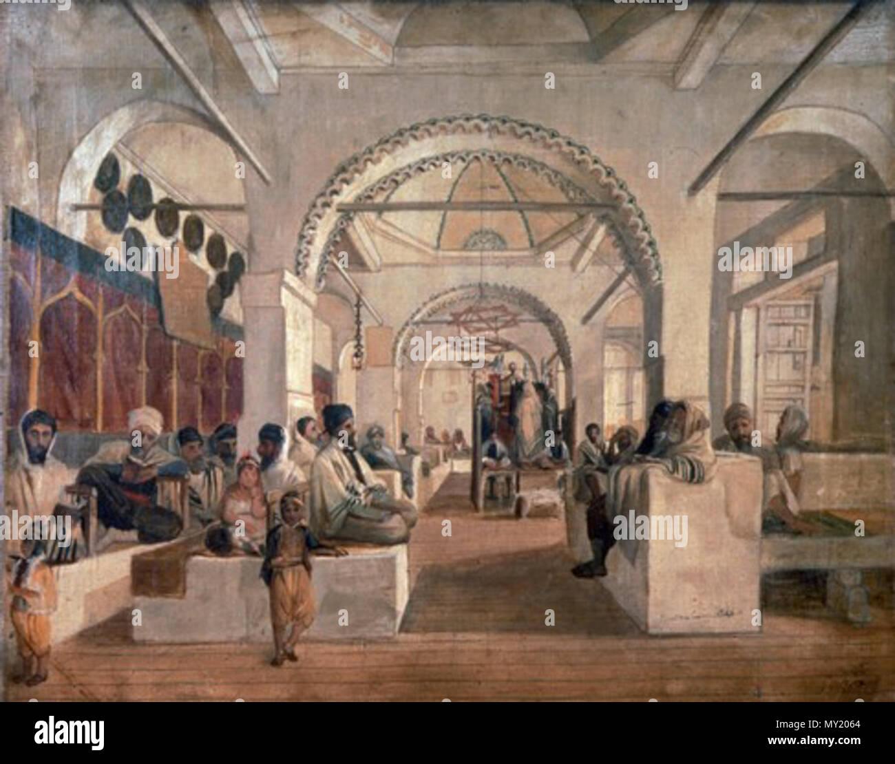 . עברית: Sanya Sinagoga, Argel, 1840 . 23 de noviembre de 2013, 00:44:40. Musée d'art et d'histoire du Judaïsme 475 Sanya Sinagoga Alger Foto de stock