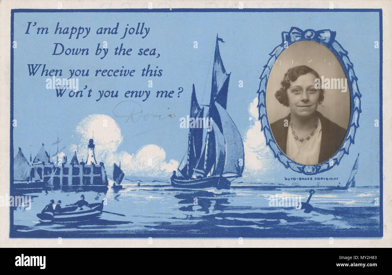 Seaside Recuerdo Postales De Doris Tomadas En Un Quiosco De
