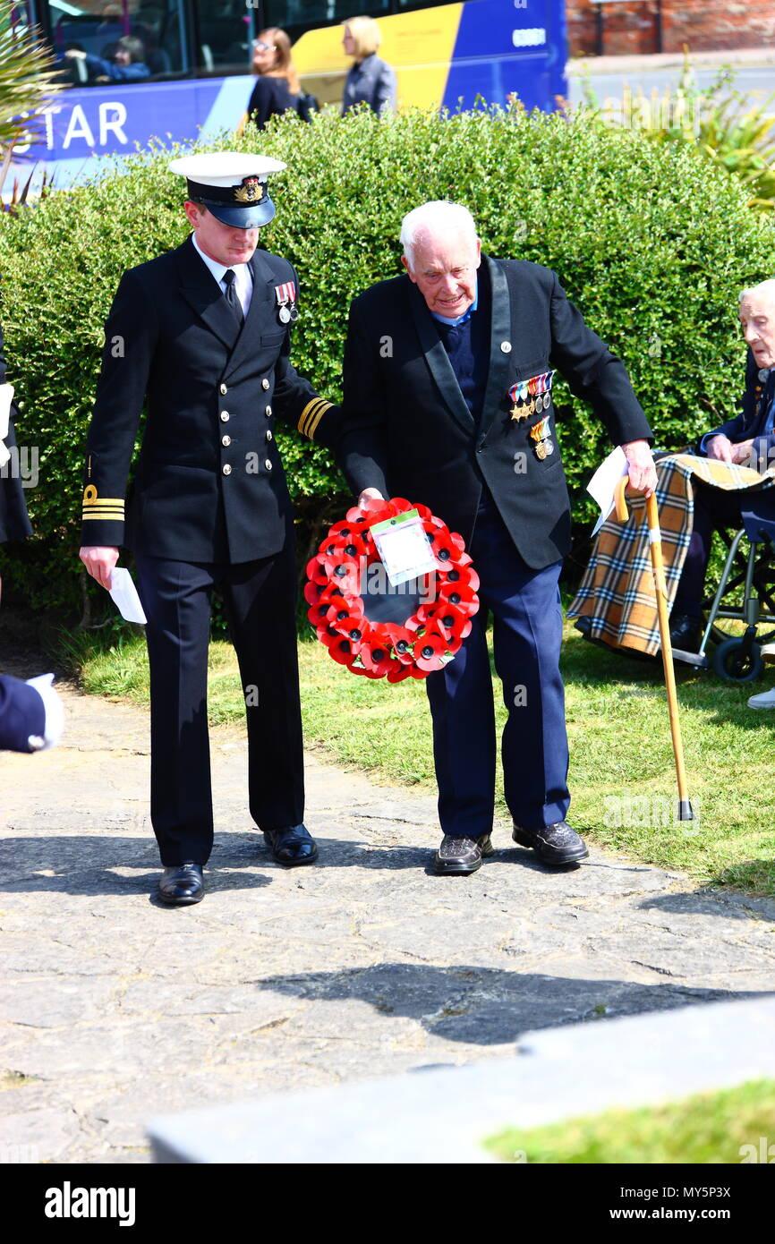 Portsmouth, Reino Unido. 6 de junio de 2018. Día D servicio anual de conmemoración, organizada por la Royal British Legion. Crédito de la fotografía: FSM/Alamy Live News Foto de stock