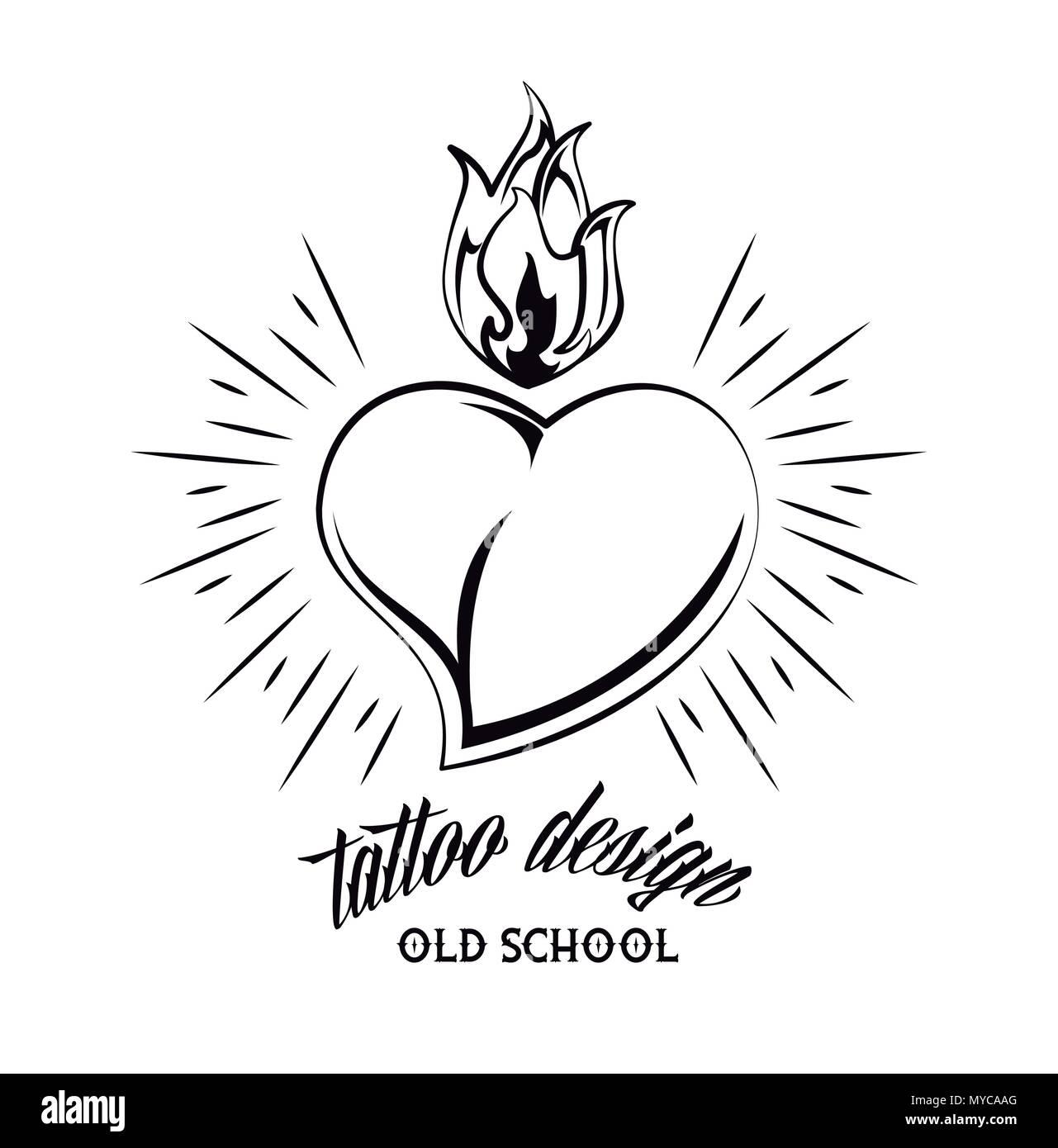 Tattoo Studio Diseño En Blanco Y Negro Ilustración Del Vector