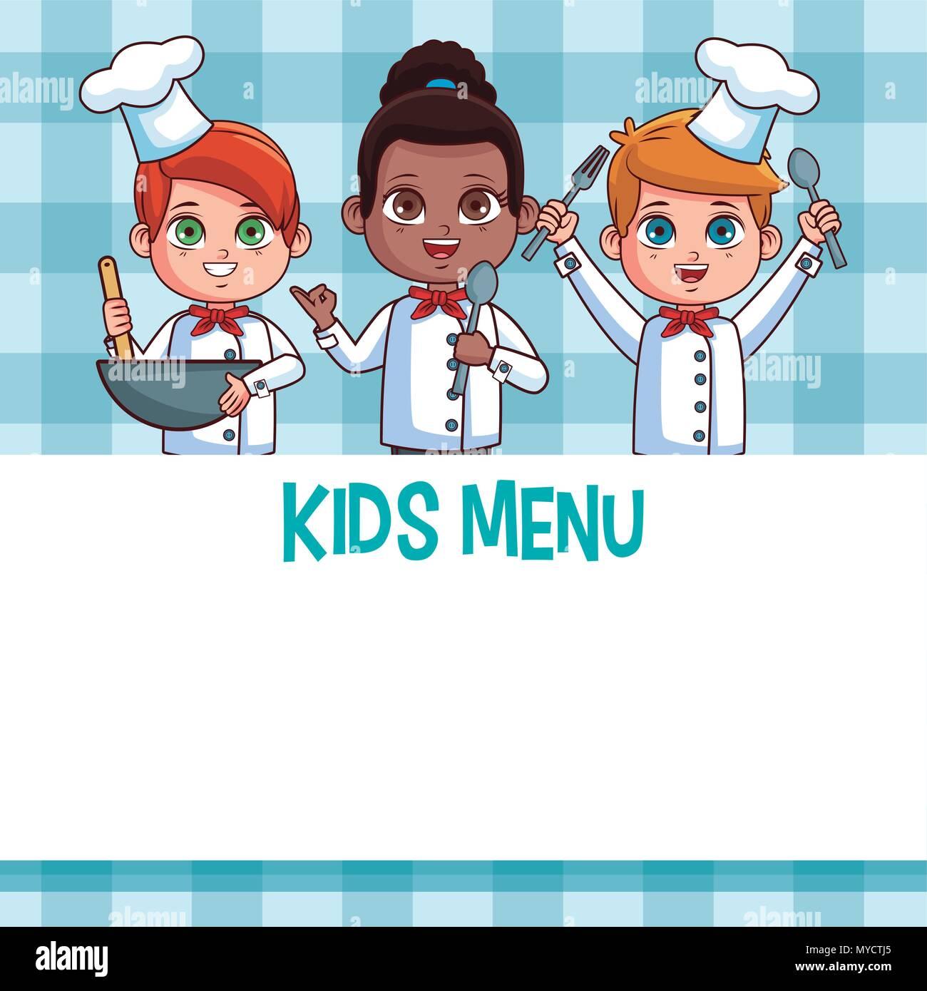 Plantilla de menú para niños Ilustración del Vector, Imagen ...