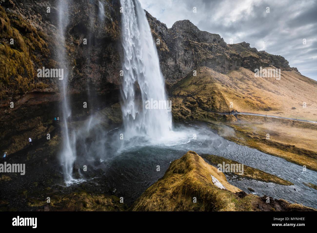 Cascada de Seljalandsfoss, Islandia Foto de stock