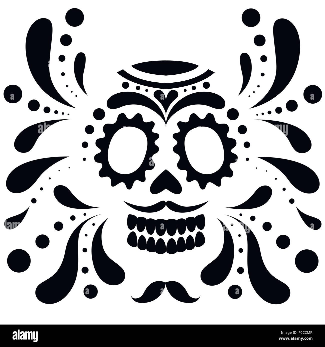 Skull Floral Ornament Day Dead Imágenes De Stock & Skull Floral ...