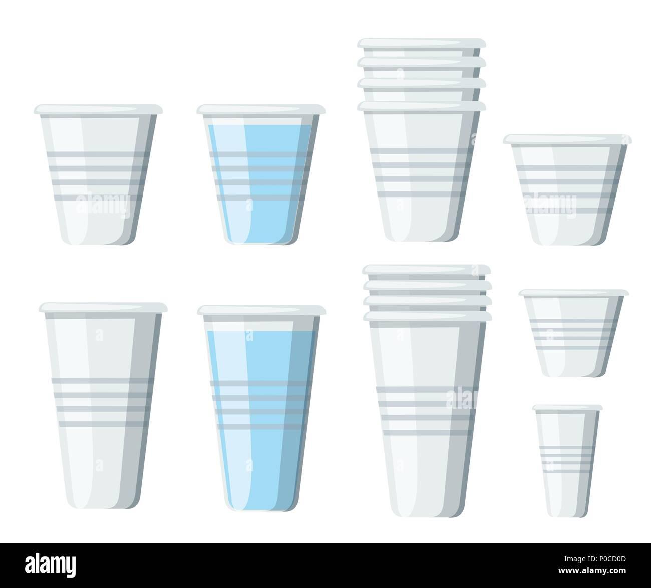 Juego De Vasos De Plastico Los Vasos Desechables Transparentes De