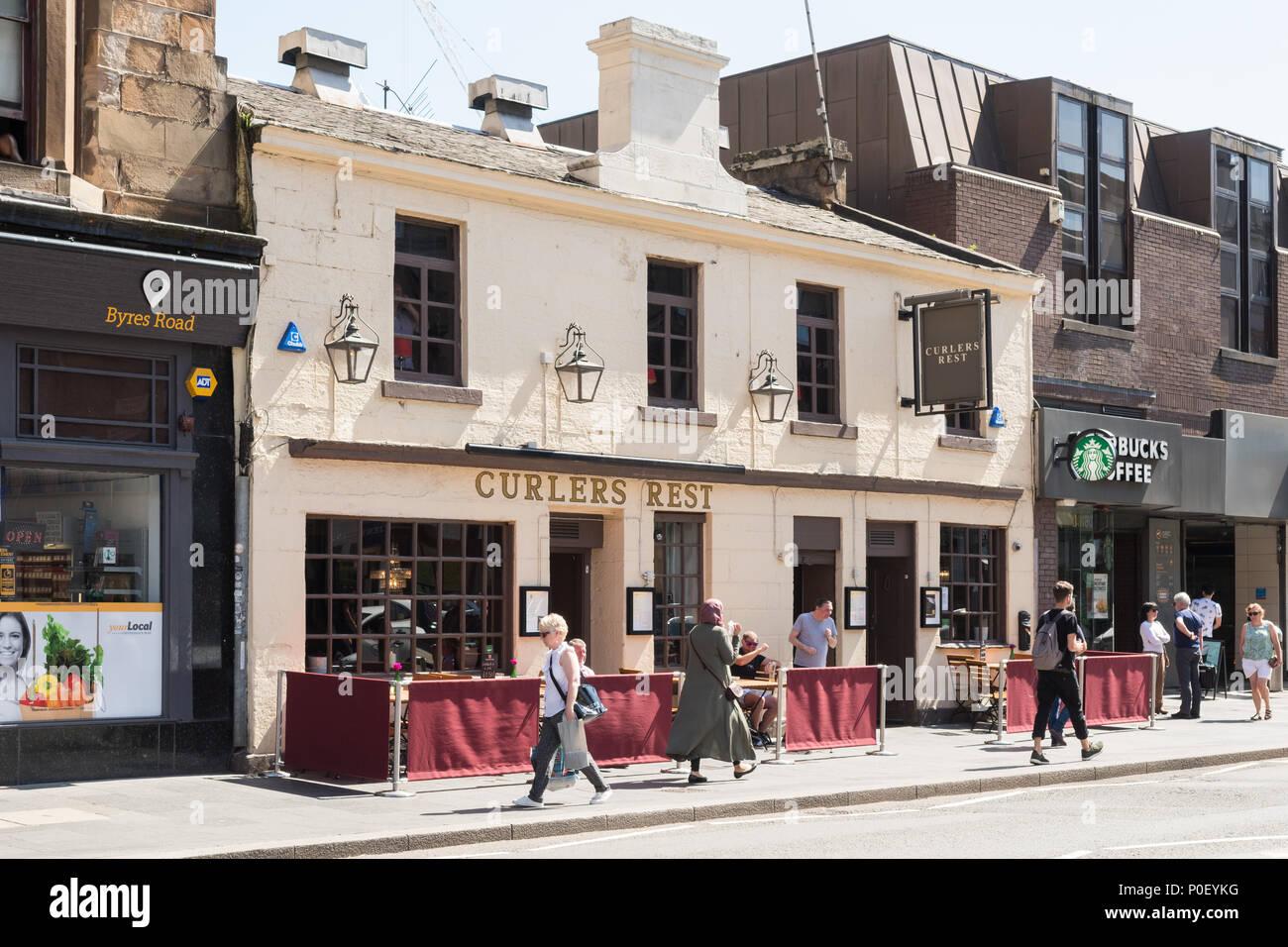Rizadores resto Pub, Byres Road, Glasgow, Escocia, Reino Unido Imagen De Stock