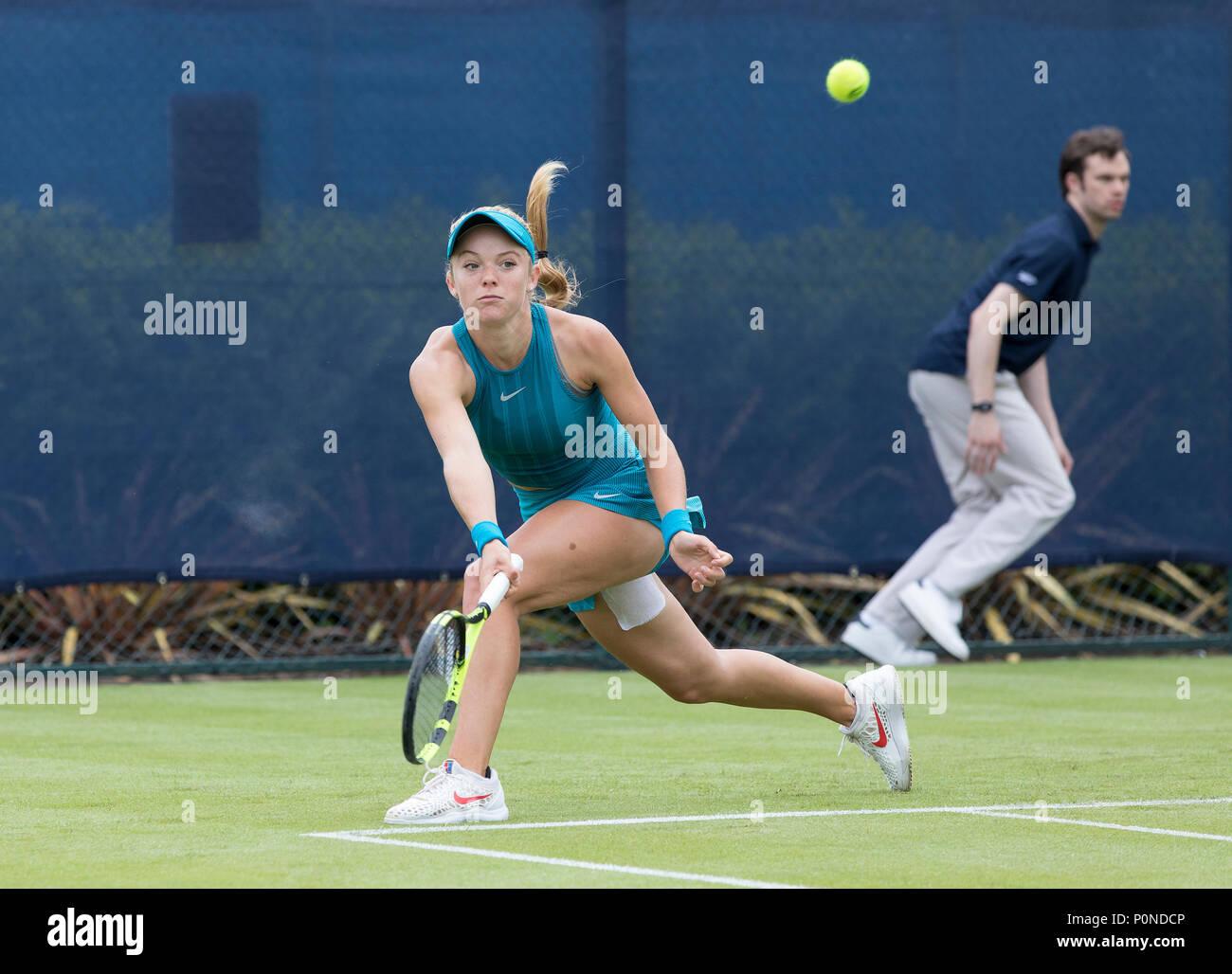 Katie Swan en el tenis, en acción durante la naturaleza Valle Open 2018 - Katie Swan Jugador de tenis Foto de stock