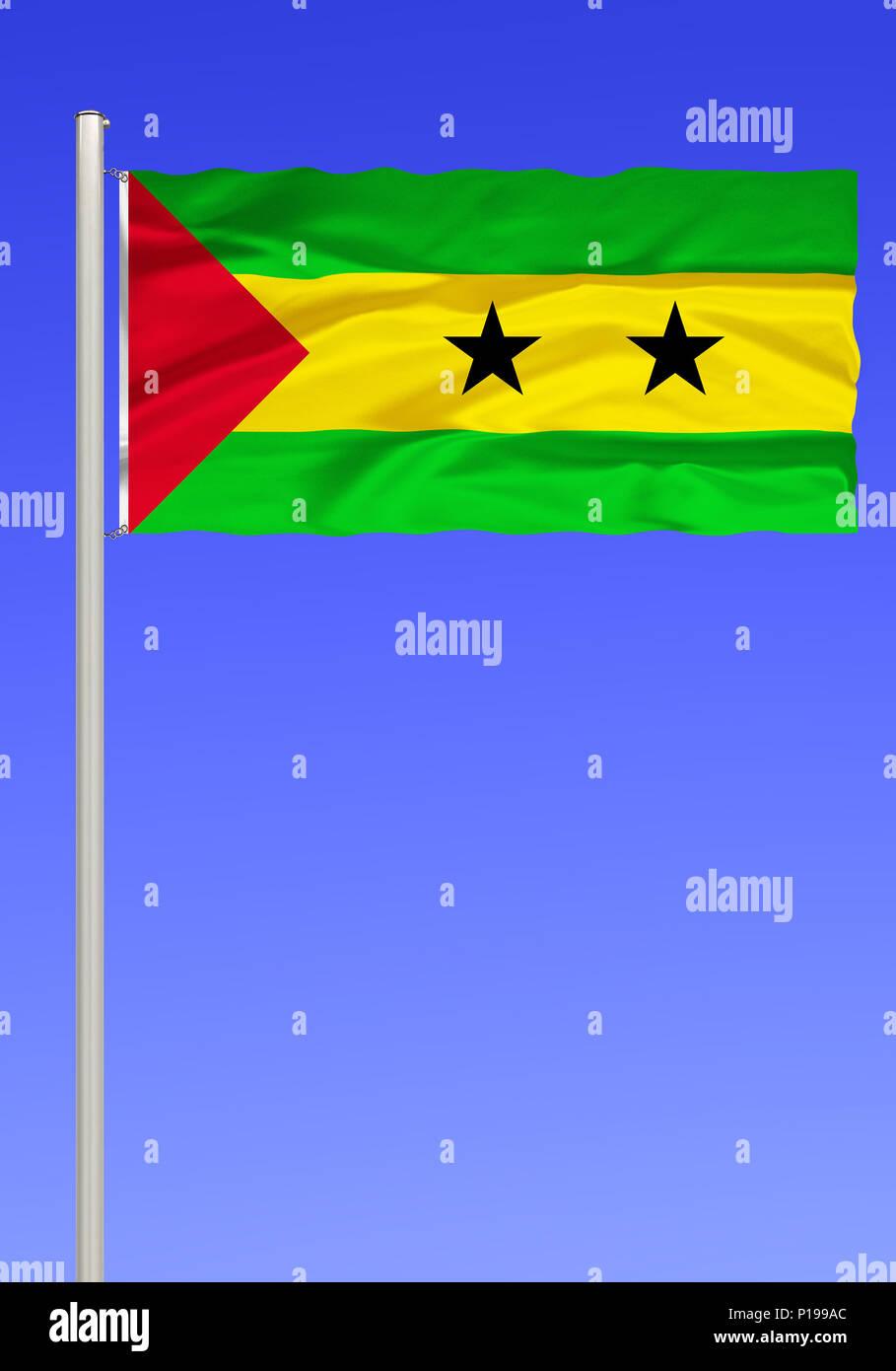 Bandera De Santo Tome Y Principe Flagge Von Santo Tome Y Principe