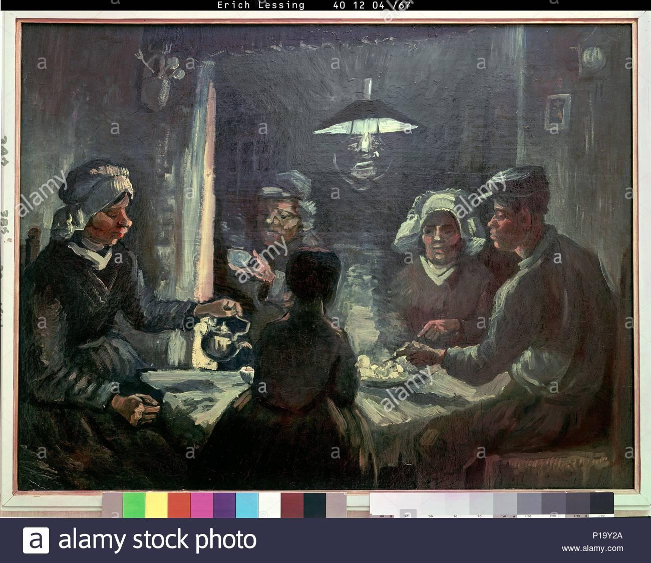 Los comedores de patatas; 1885 Cat. Nº 196. Autor: Vincent van Gogh ...