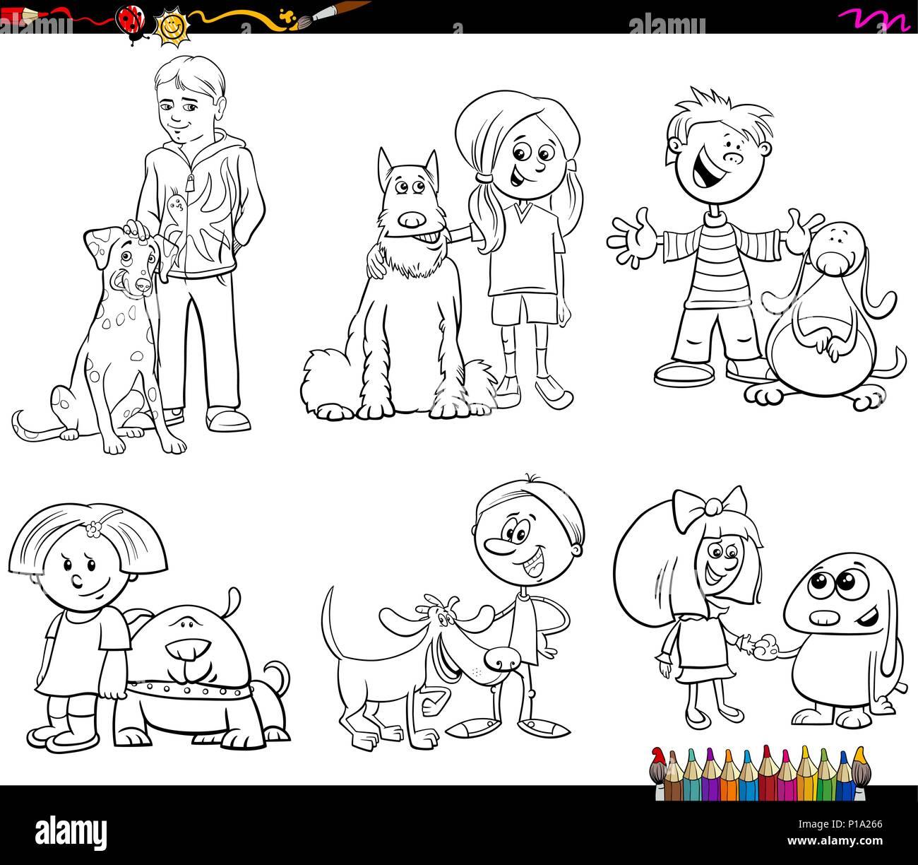 Libro Para Colorear De Blanco Y Negro Ilustracion De Dibujos
