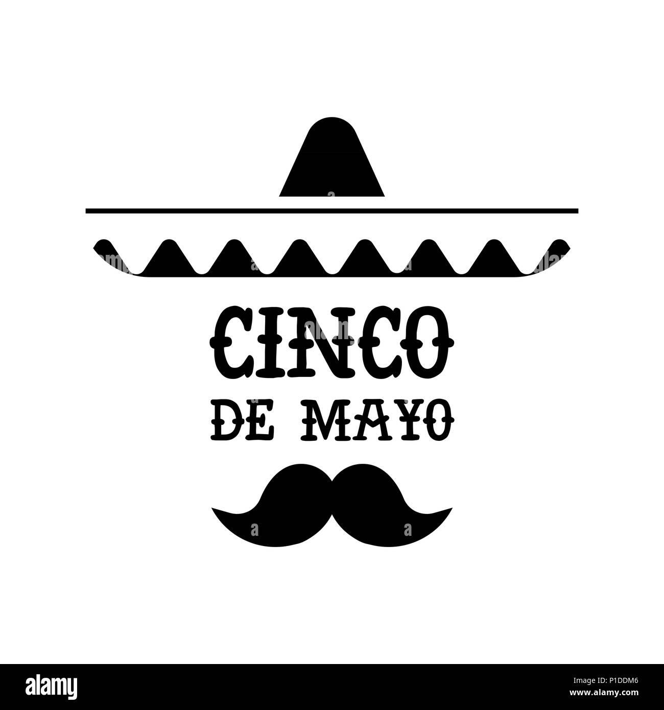 Feliz Cinco de Mayo parte ilustración. Celebración de la cultura mexicana  aislados de quote mariachi c7d1ad44299