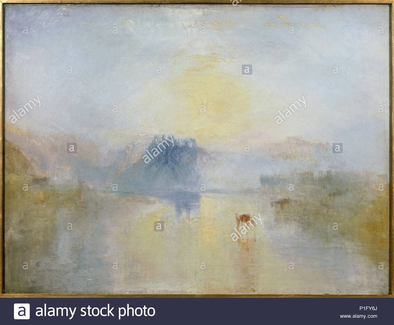 Norham Castle, Sunrise circa 1845 lona; 908 x 1219 mm marco: 1060 x ...