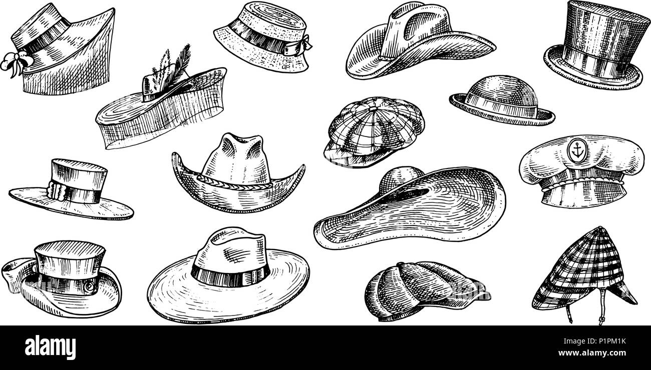 Sombreros de verano colección vintage para hombres 677f2818029