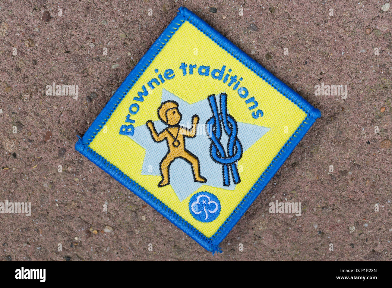 Tradiciones Brownie Girl Guide / Brownies badge Imagen De Stock