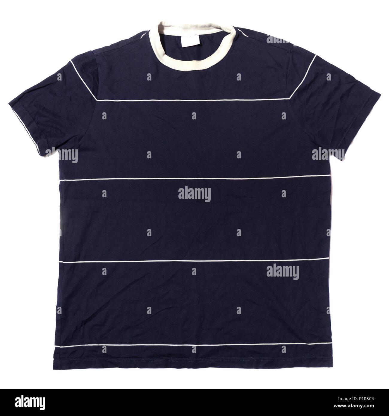 Azul Camiseta de manga corta Imagen De Stock