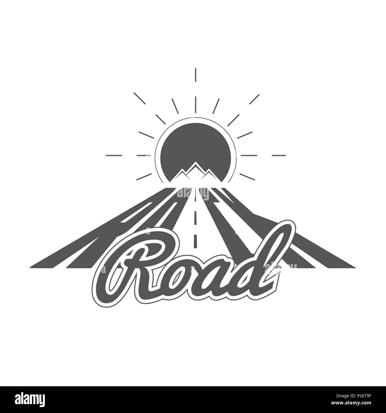 Rock Road - Alpine Adventure Club emblema - Icono - Impresión ...
