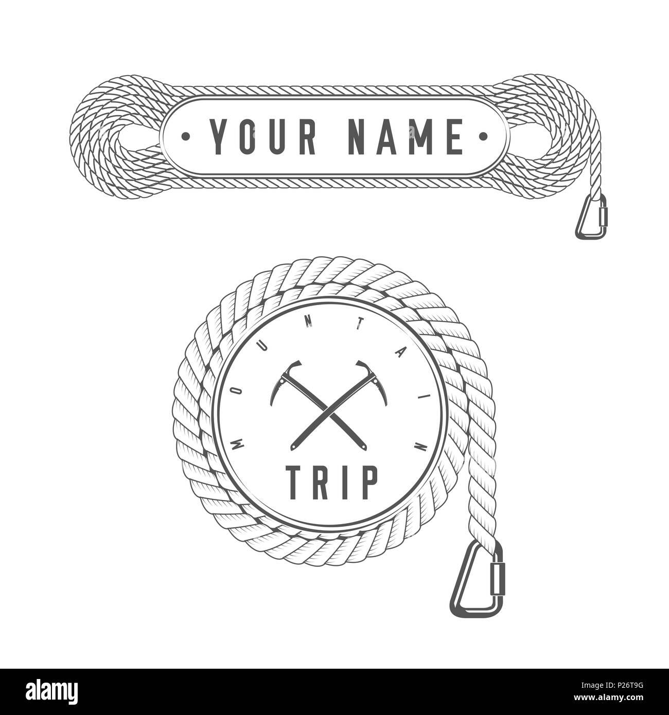 Viaje de escalada - Mountain Adventure - Alpine Club emblema - Icono ...
