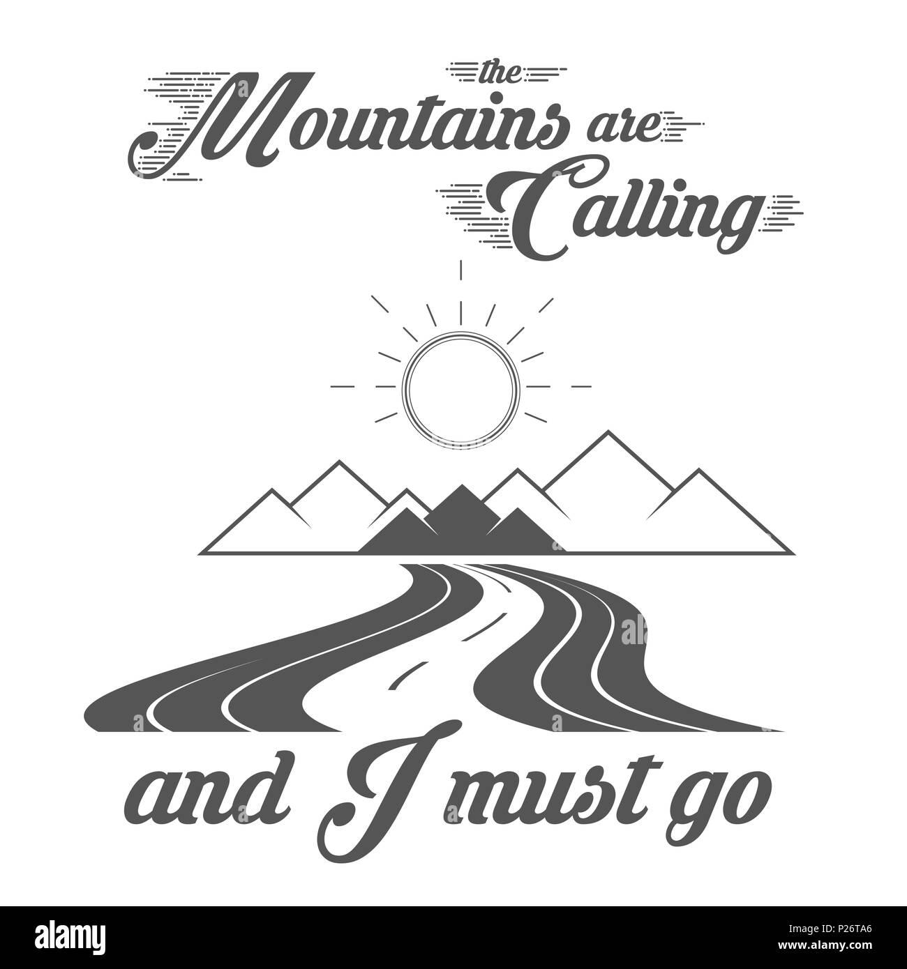 Las montañas llaman - Alpine Adventure Club emblema - Icono ...