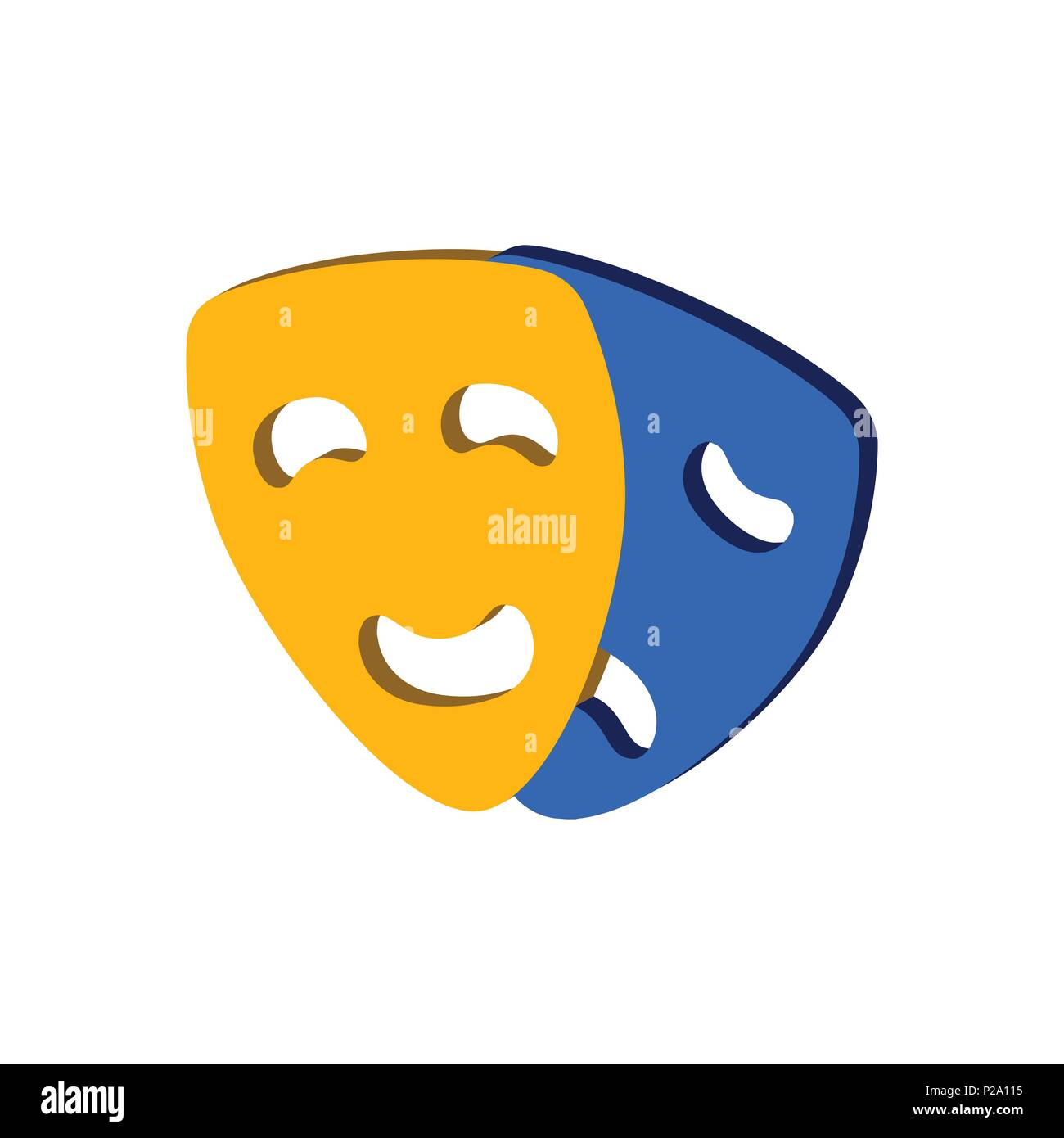 Theater Masks Isolated Icon Vector Imágenes De Stock Theater Masks