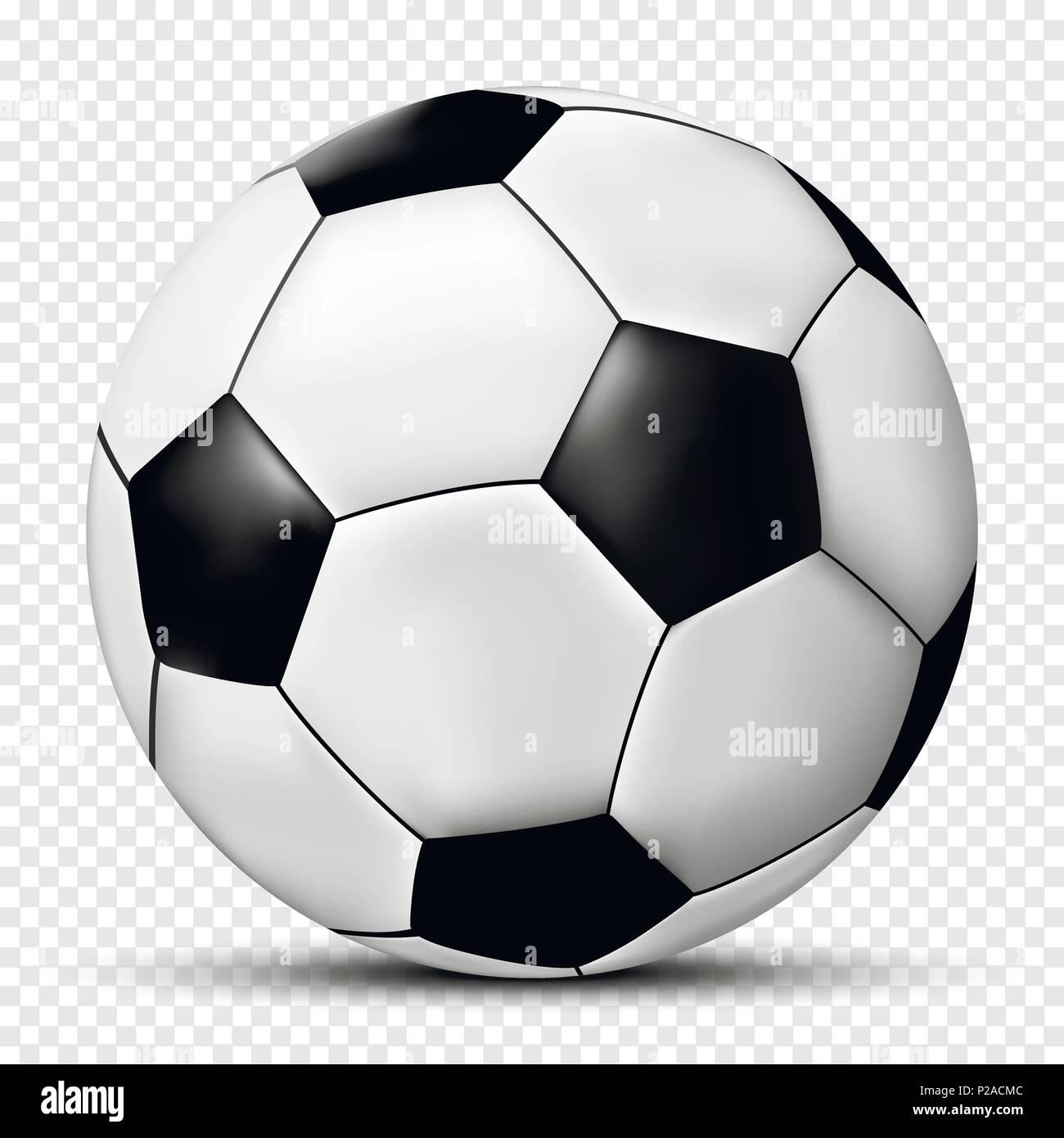 Fútbol o pelota de fútbol aislado sobre fondo transparente. Ilustración  vectorial. Imagen De Stock a1a6868b9c9a8