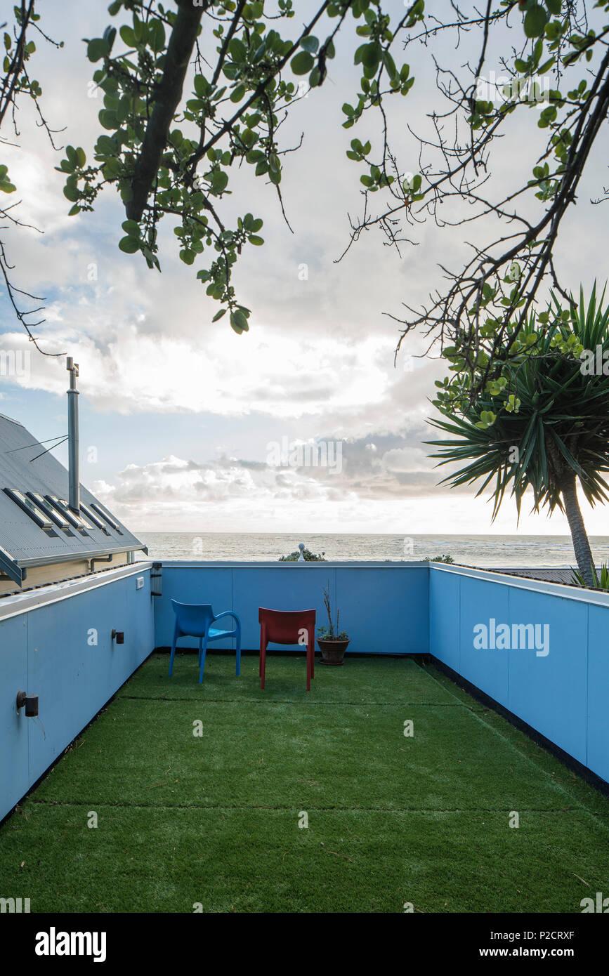 Terraza Arriba Nueva Adición Al Viejo Bach Casa De Playa