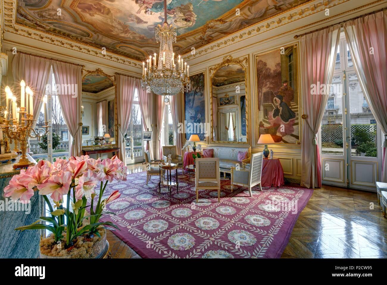 Francia, París, el hôtel de Salm, la habitación de las Musas Imagen De Stock