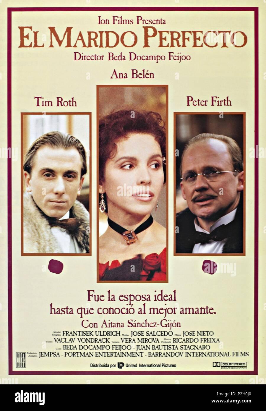El título de la película original: EL MARIDO PERFECTO. Título en inglés: EL MARIDO PERFECTO. El director de cine: Beda Docampo Feijoo. Año: 1993. Crédito: ION Films / Álbum Imagen De Stock