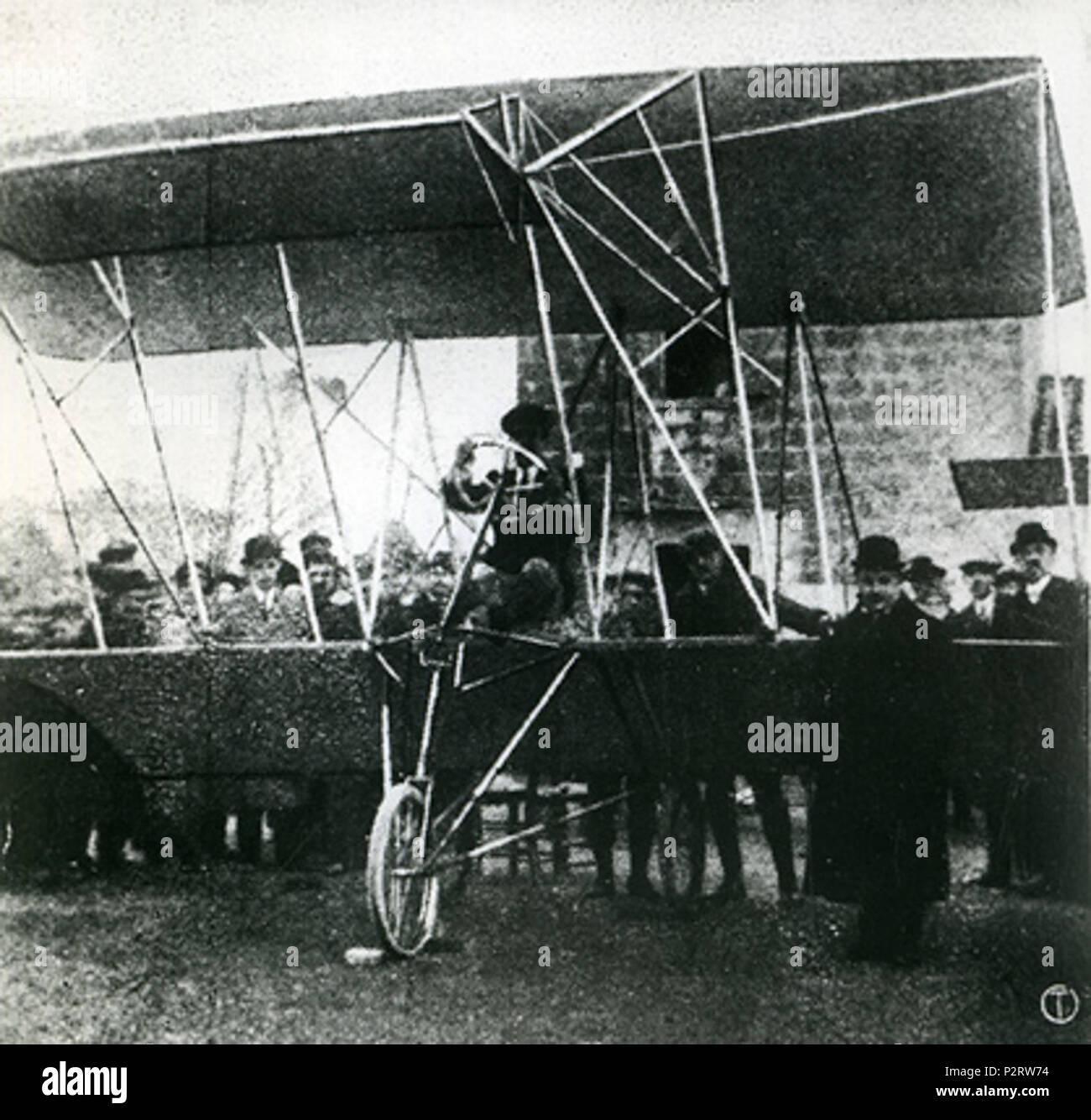 . Italiano: Biplano Agusta AG.1 Una Capua Licensing Categoria:Immagini di aeroplani . 1910. 4 desconocido Agusta AG.1 biplano Foto de stock
