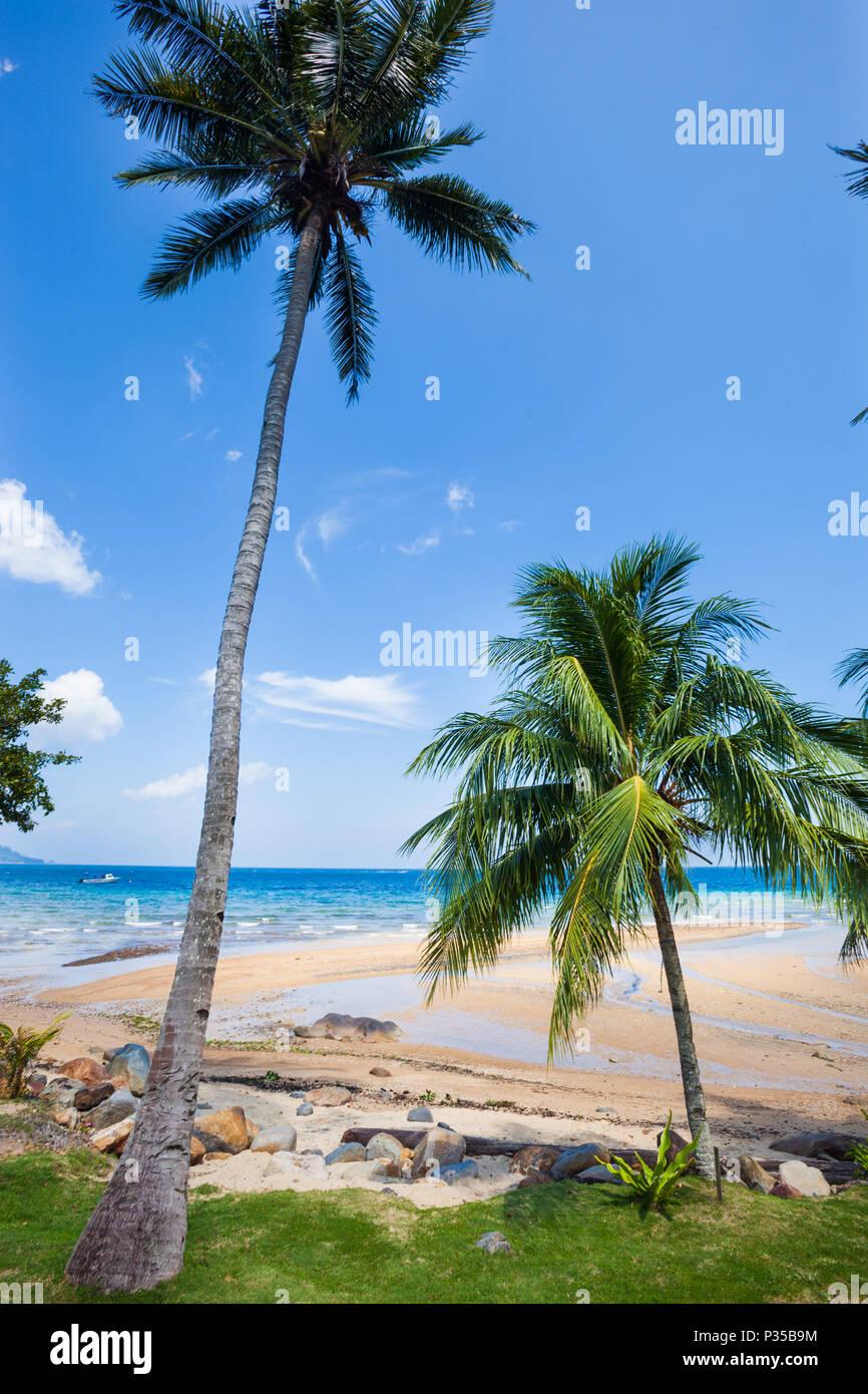 Air Batang (ABC), la playa (Pulau) La isla de Tioman, Malasia Foto de stock