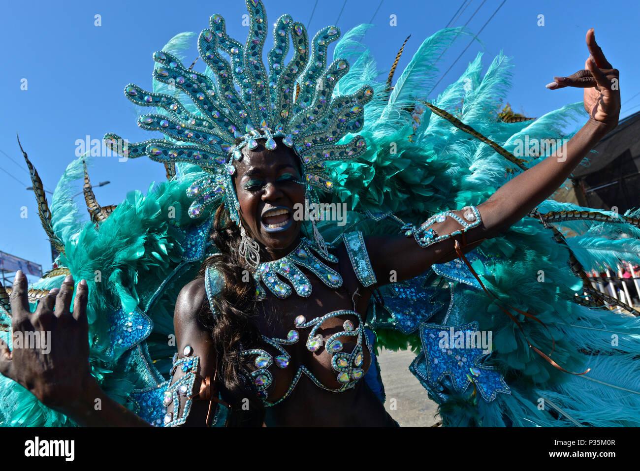 La batalla de flores, el Carnaval de Barranquilla. Foto de stock