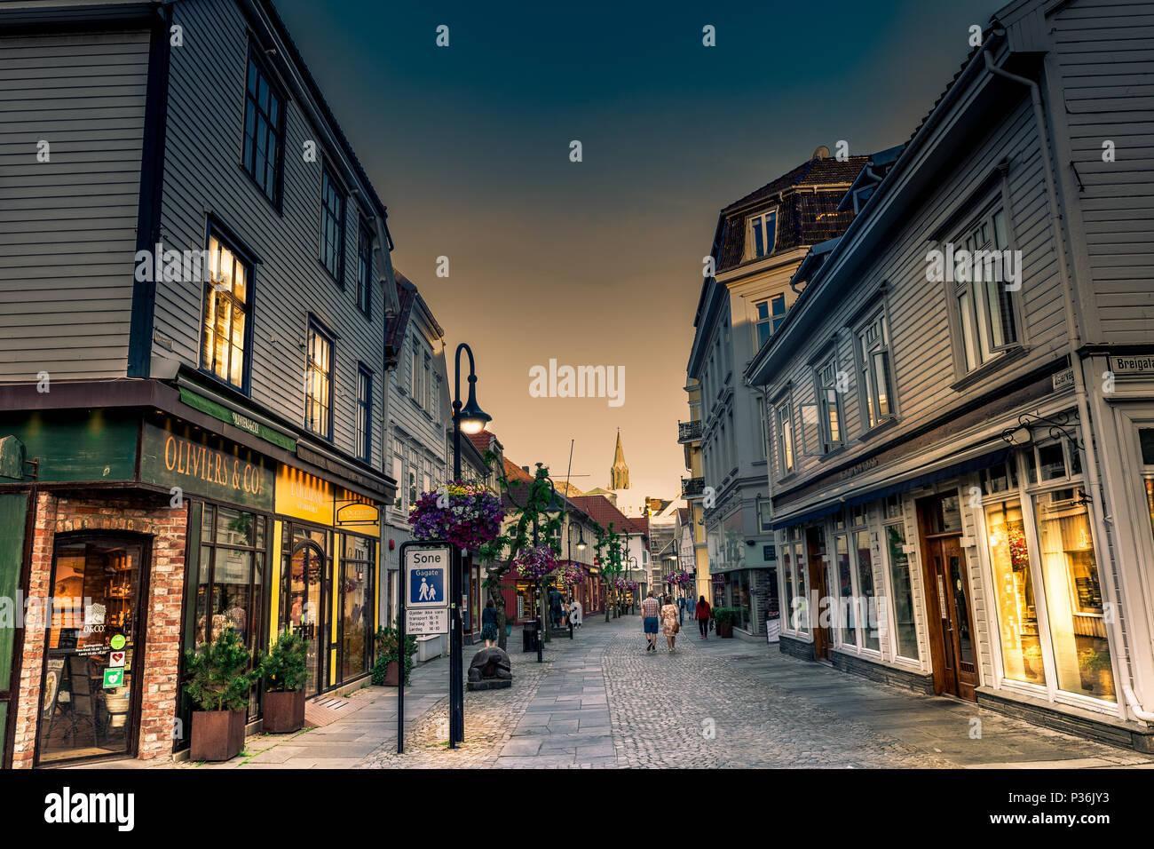 Stavanger, Noruega Street Imagen De Stock