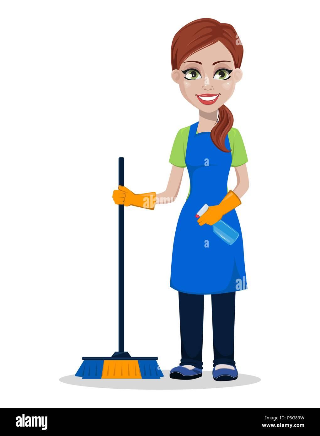 Empresa de limpieza personal en uniforme mujer - Imagenes de limpieza de casas ...