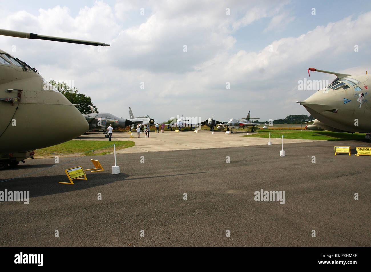 Británico de aviones militares de la guerra fría Imagen De Stock