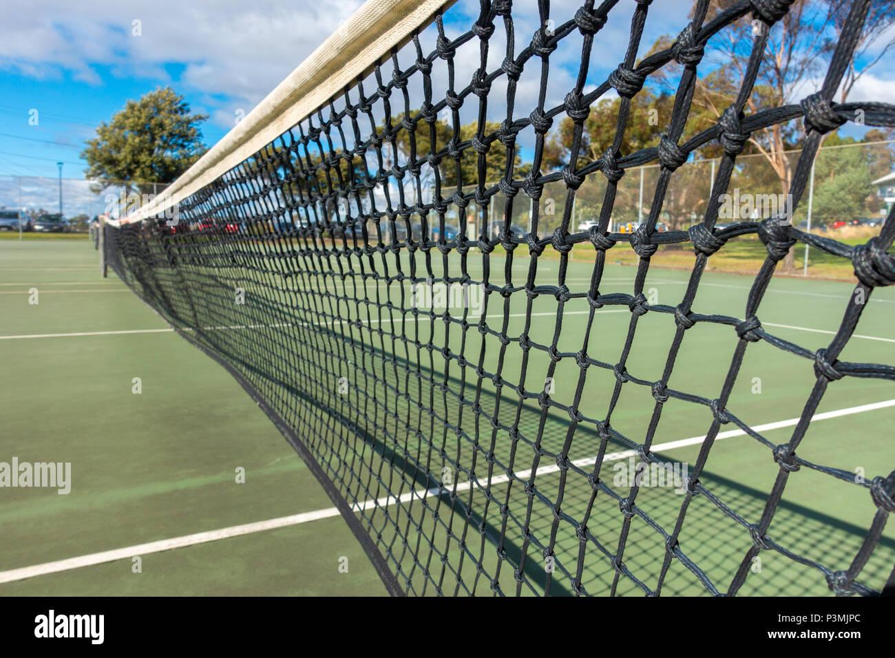 Net en pista de tenis gratuita en Footscray Park. Melbourne, Australia VIC Imagen De Stock