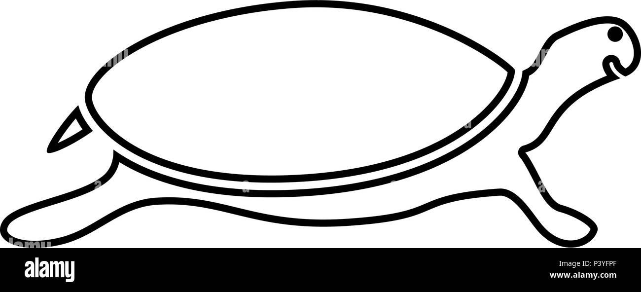 Icono de tortuga tortuga color negro ilustración vectorial tipo ...