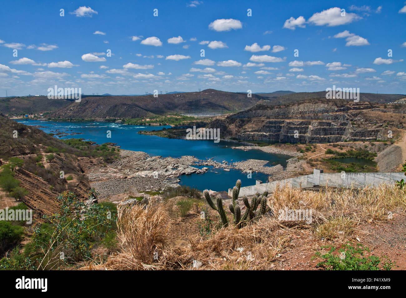 Canindé de São Francisco - se usina hidro Elétrica de Xingó usina hidro elétrica de Xingó Canindé de São Francisco, Sergipe, Nordeste de Brasil Imagen De Stock