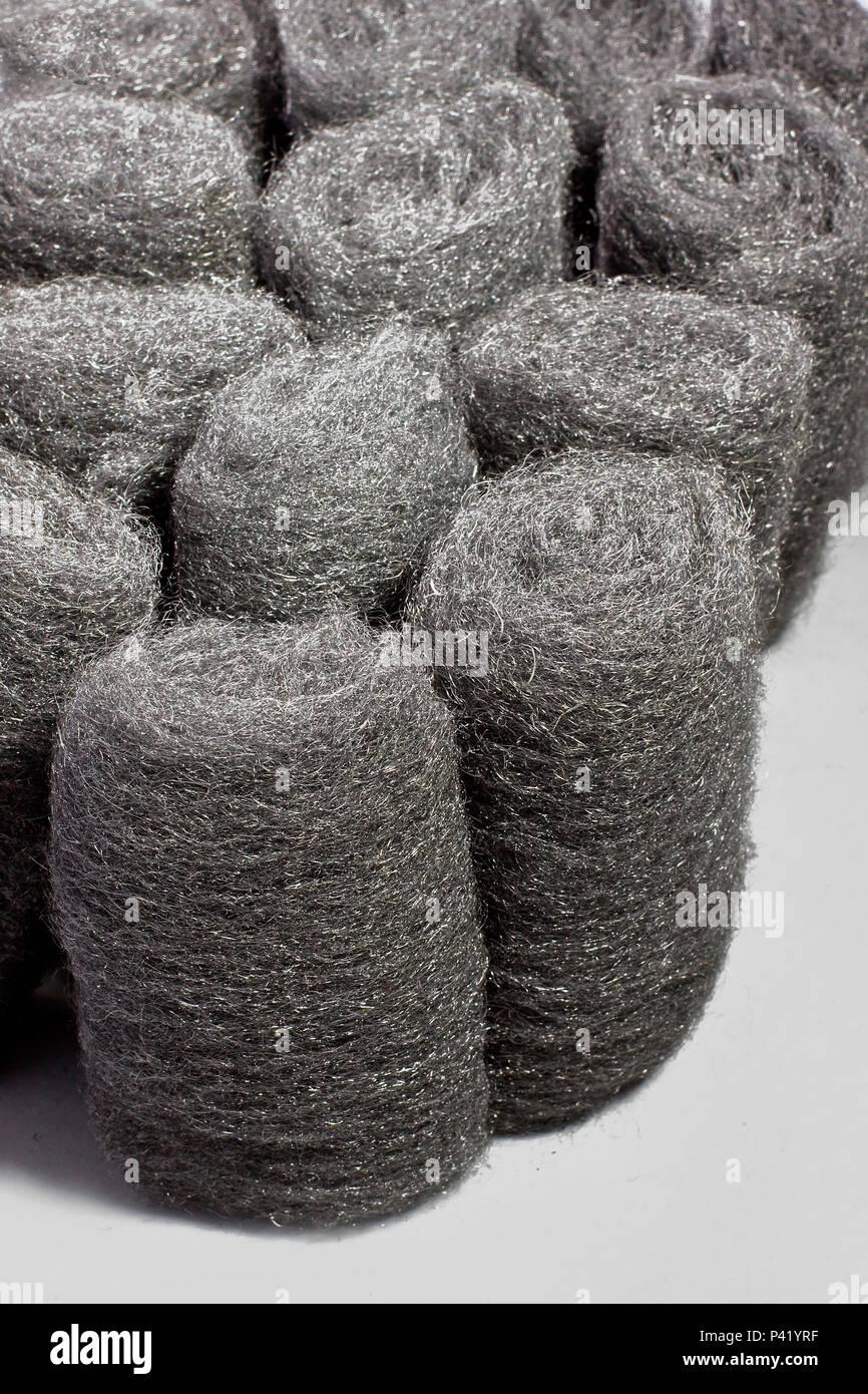 Esponja de aço alúminio esponja esponjas Pará Pará panelas lavar Imagen De Stock