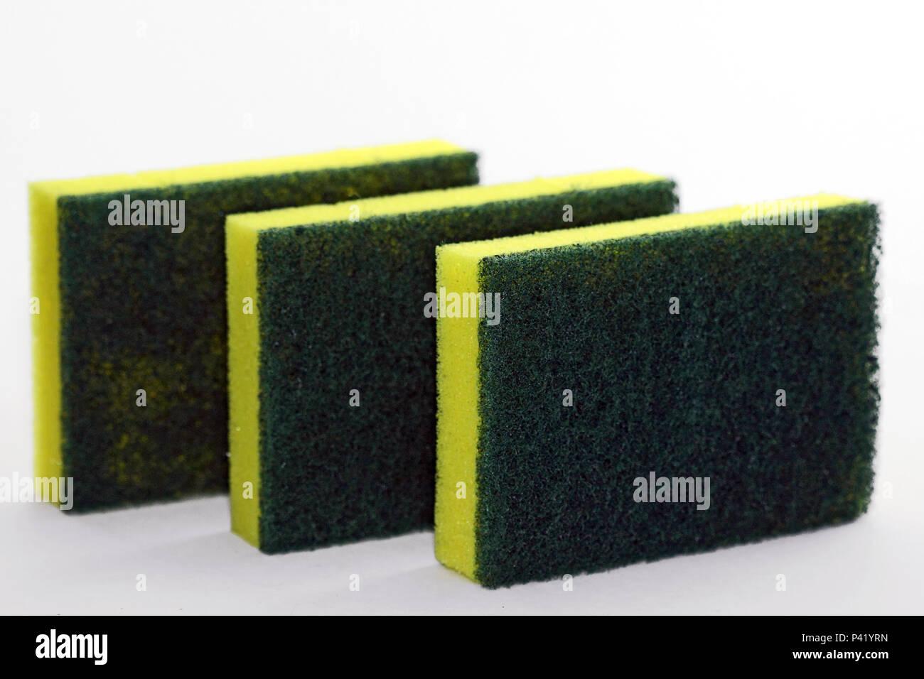 Esponja esponjas para lavar louça buchinha espuma produto de limpeza doméstico Imagen De Stock