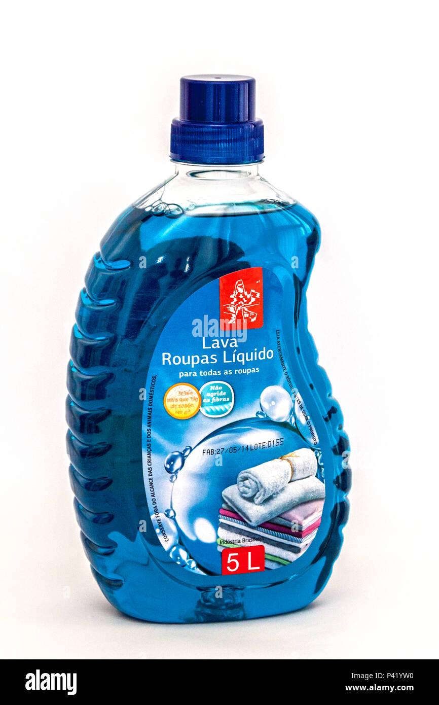 Lava Roupas Embalagem Líquido de Lava Roupas Embalagem Líquido de sabão com 5 litros 5 Litros de são Líquido Líquido Sabão Sabão Limpeza Higiene nas roupas Imagen De Stock