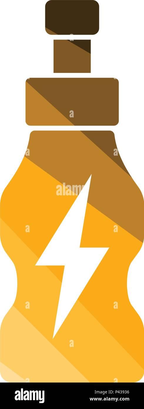 Icono de botellas de bebidas energéticas. Diseño de color liso. Ilustración vectorial. Ilustración del Vector