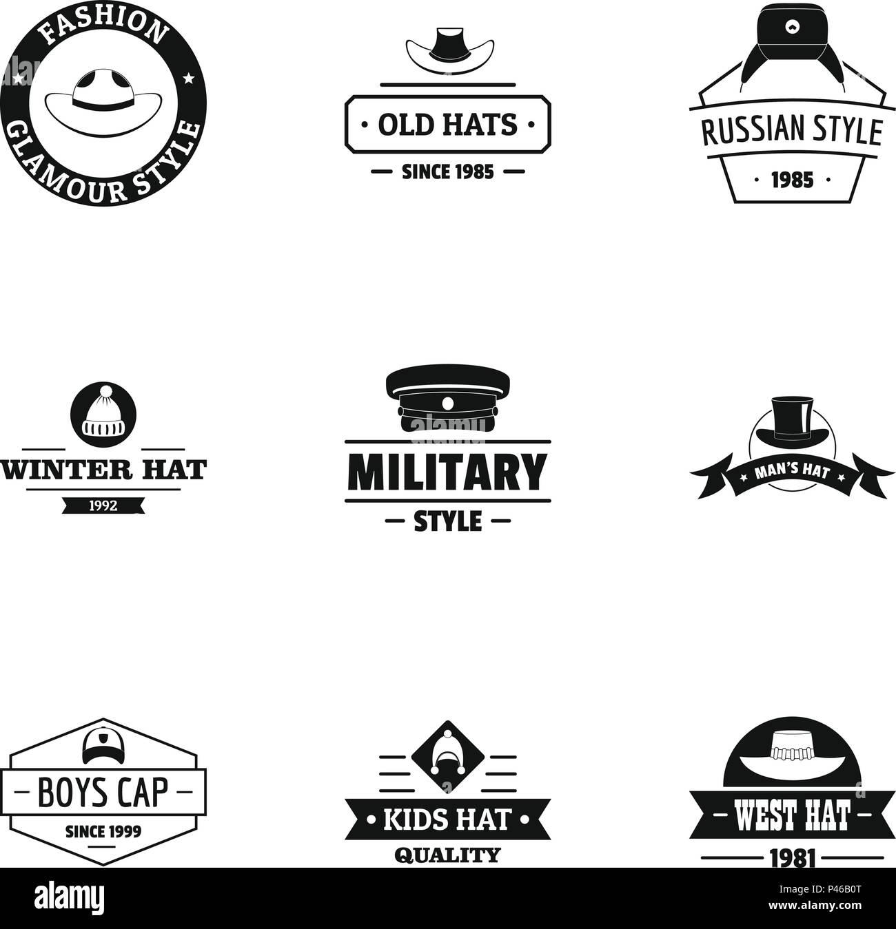 Chapeau logo, estilo sencillo Ilustración del Vector