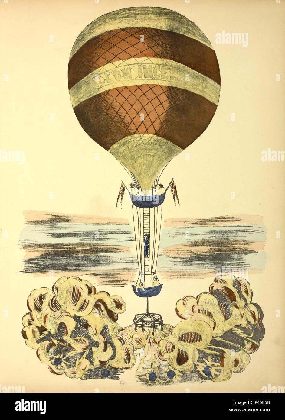 Vuelo en globo histórico Imagen De Stock